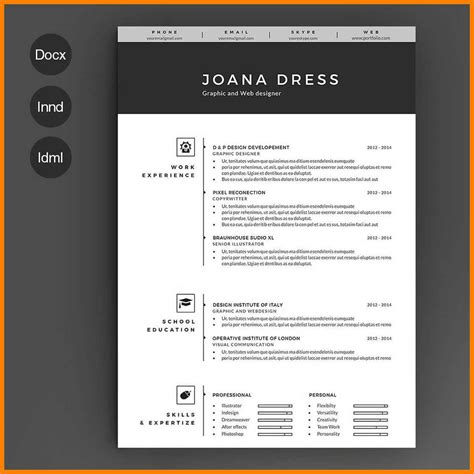 illustrator resume templates 7 resume template illustrator applicationleter