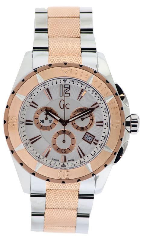 Guess Gc Chronograph 6617 Leatherblw guess gc sport class chronograph mens g53002g1