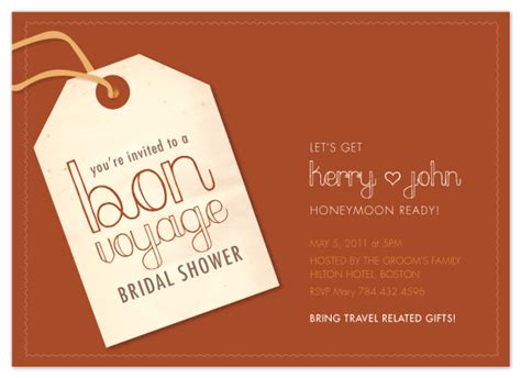 bon voyage luggage tags invitation templates images frompo