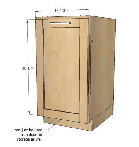 kitchen base cabinets 101 ana white ana white build a 18 quot kitchen base cabinet trash pull