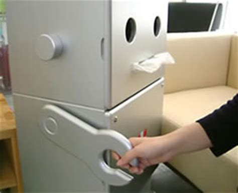 Tissue Dispensing Robot On The Prowl In Japan by Handmade Robot Type Receipt Box From Japan Fareastgizmos