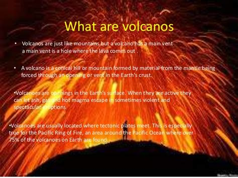 what s in a lava l volcanoes information report