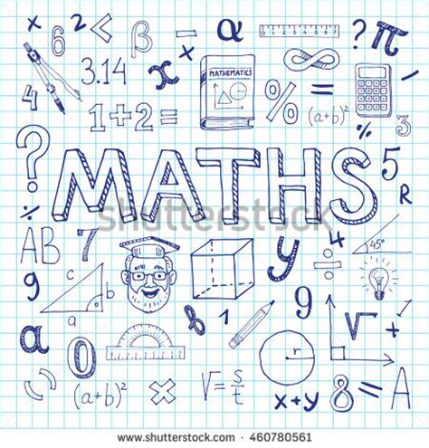 doodle your math book math icon stock images royalty free images vectors