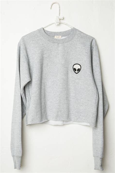 Brandy ? Melville   Nancy Alien Patch Sweatshirt   Graphics