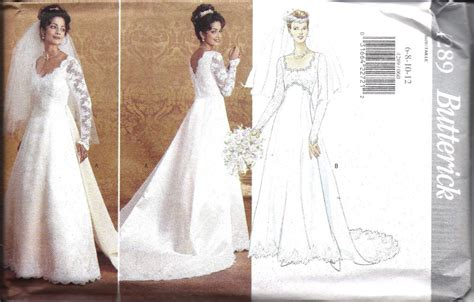Wedding Gown Patterns by Vintage Butterick Sewing Pattern Wedding Bridal Gown