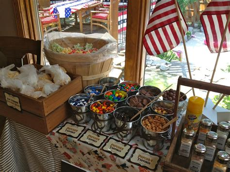 popcorn bar toppings popcorn bar and fourth of july chocolate covered oreos patriotic cookies chocolate