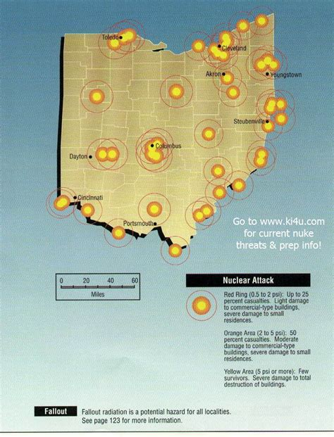 shelters in ohio nuclear war fallout shelter survival info for ohio with fema target maps