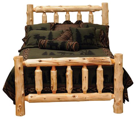 Log Headboards For Beds by Cedar Traditional Log Headboard Traditional Cedar