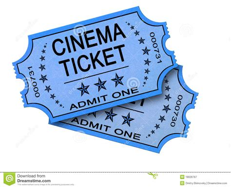 cineplex no passes two cinema tickets on white royalty free stock photography