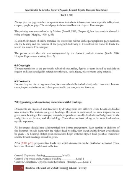 research proposal format headings research proposal thesis format ver 4 april 2011