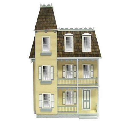 7 room dollhouse miniature dollhouse colonial with mansard roof