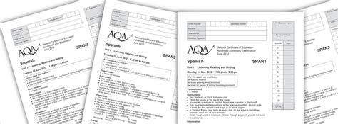 gcse writing past papers mock answer sheets espanish