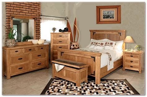 rustic looking bedroom furniture set designing along with