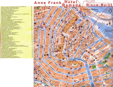 map of amsterdam amsterdam tourist map amsterdam mappery