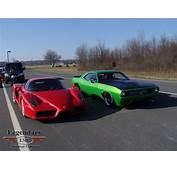 Twin Turbo LMC Super Cuda Races Enzo Achieves 208 MPH Speed