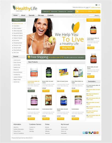 download template toko online opencart drug store opencart template 38175