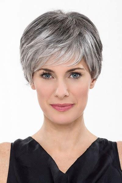 gray bang wrap capless grey short straight synthetic hair wig grey wigs