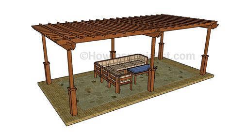 building plans for pergola large pergola plans howtospecialist how to build step by step diy plans