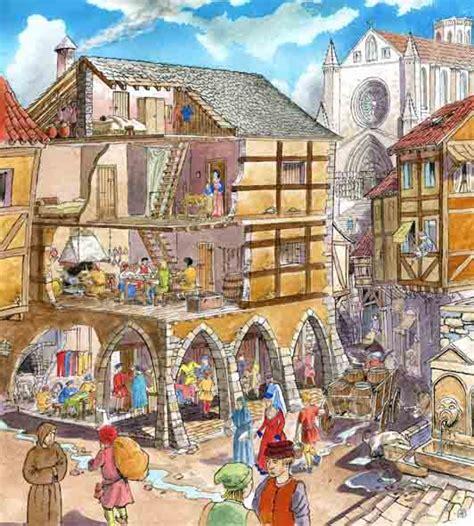 casas de la edad media infantil de gracia los artesanos en la edad media
