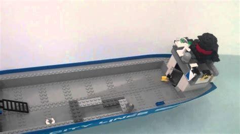 lego boat sinking videos lego cargo ship sinking youtube