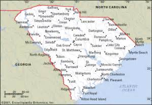 and south carolina map with cities and towns south carolina map and south carolina satellite images