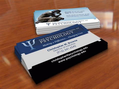 Business Card Templates For Psychologists by Business Card Design Gfx