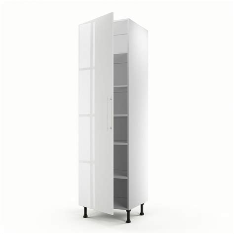 colonne cuisine 50 cm largeur meuble de cuisine colonne blanc 1 porte h 200 x l 60 x