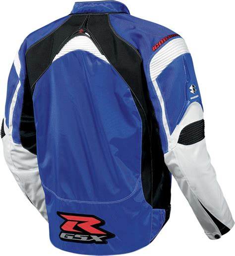 gsxr riding jacket icon contra gsxr mens textile jacket blue