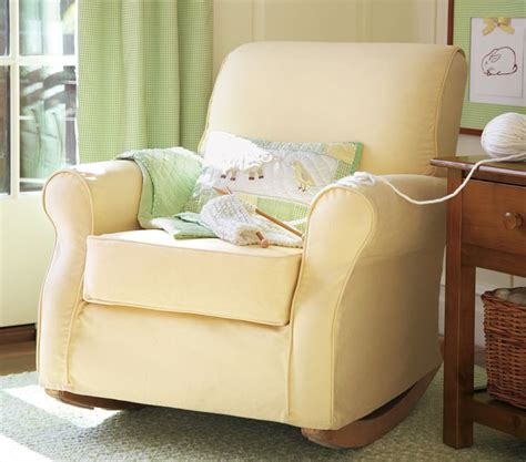 custom slipcover for your pb dream rocker with wooden nacient needle home of needle arts guild slipcover