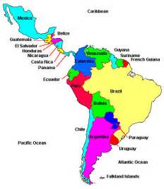 labeled map of central and south america unit 6 america world cultures rettig