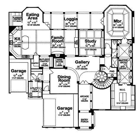 italian floor plans blue hill falls italian home plan 026s 0019 house plans and more