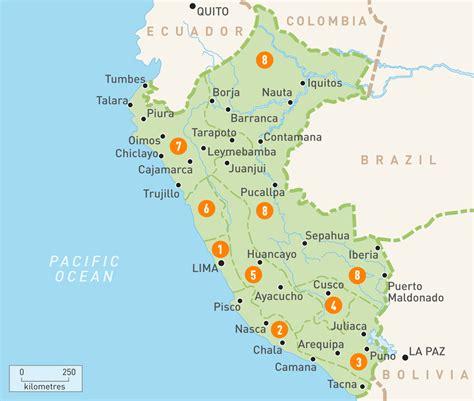 peru on a map map of peru peru regions guides guides