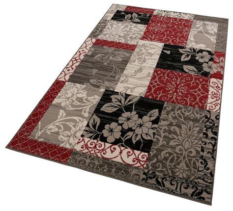 teppich rot gemustert teppich hanse home 187 paliseu 171 patchwork optik floral
