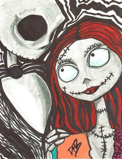tattoo nightmares halloween tr st like jack and sally 183 a drawing 183 art and drawing on cut
