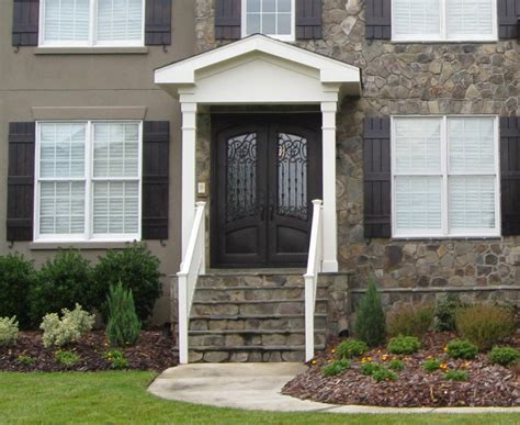 front entrances black front door for simple and attracting applications