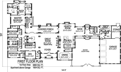 One Story Mansion Floor Plans by Big One Story House Floor Plans Floor Plans For One