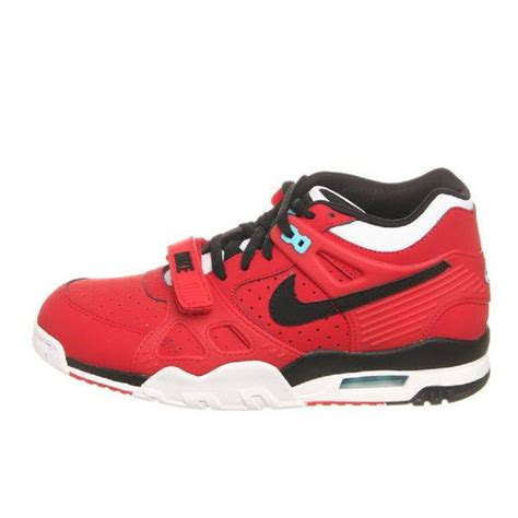 nike air trainer  university red black white clear