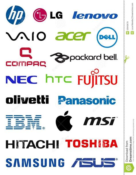 Computer Producers Logos Editorial Stock Image   Image