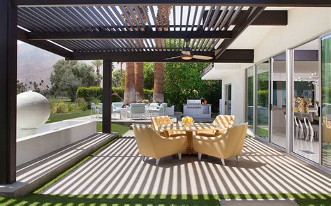 gorgeous jonathan adler bedding in patio midcentury with
