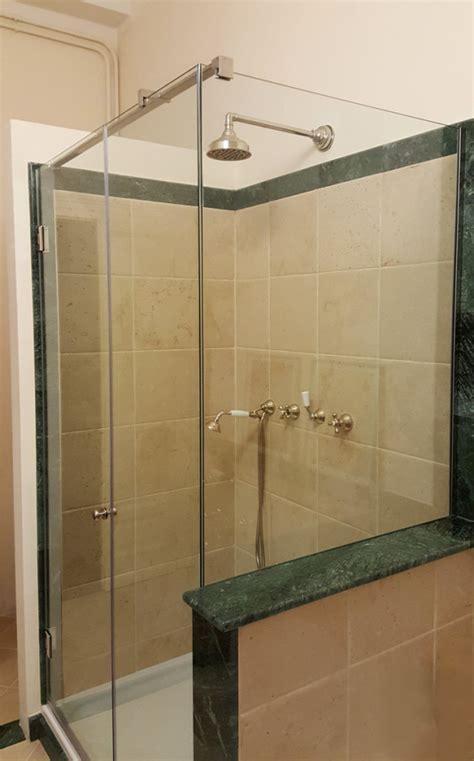 box doccia con muretto box doccia sagomati su vasca o muretto su misura