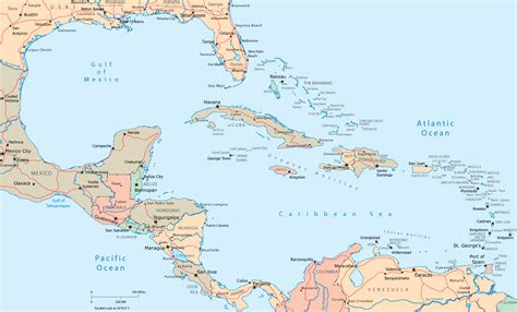 central america the caribbean map map of the caribbean countries atlantic region
