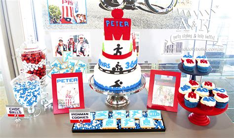 Kitchen Table Decoration Ideas peter s ironman themed 40th birthday party