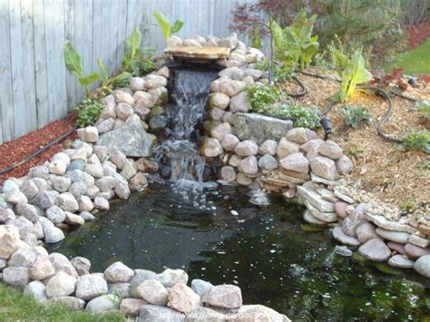 backyard pond ideas with waterfall small pond waterfall ideas garden pond ideas home