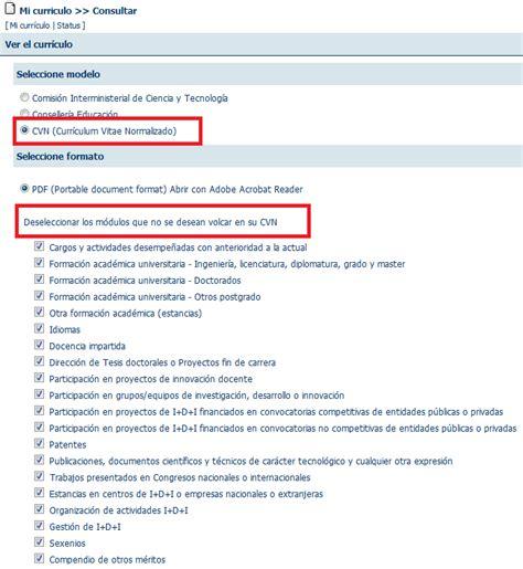 Modelo Curriculum Normalizado Cus Servei D Inform 224 Tica