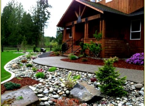 Best Rock Landscaping Front Yard Design Ideas For Country Backyard Landscaping Ideas With Rocks