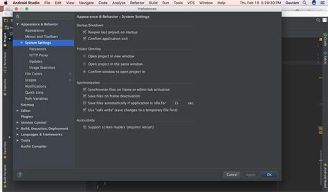 android studio 2 0 can t find android sdk in preferences android studio 2 2 3 macos stack overflow