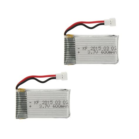 V977 Upgrade Batt 600mah 2pcs upgrade high power 3 7v 600mah lipo battery for syma x5c x5c 1 x5 jjrc h5c rc quadcopter