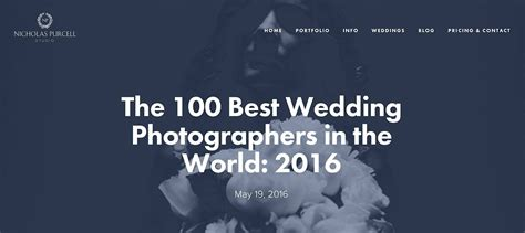 Best Wedding Photographers In The World by 100 Best Wedding Photographers In The World 2016 Alan