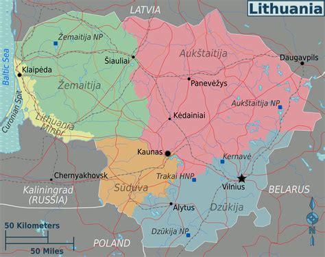 lithuania world map map of lithuania map regions worldofmaps net