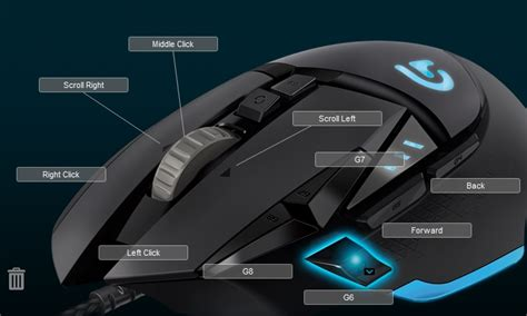 Mouse Logitech Gaming G502 Diskon logitech g502 mouse cannot bind to g6 g key to abilities slots